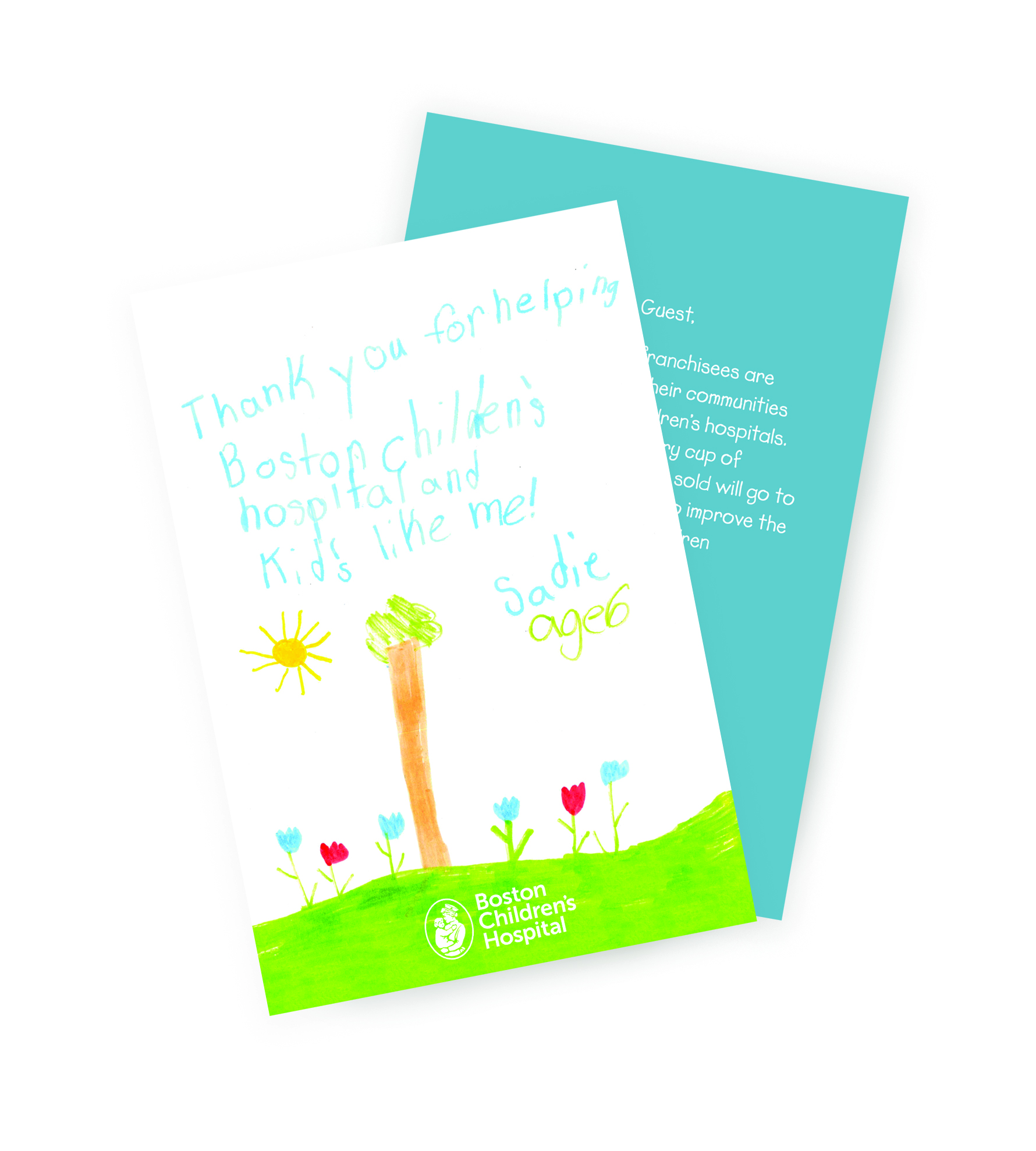 Patient thank you card